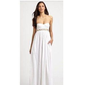 Mara Hoffman never worn Lattice white maxi dress